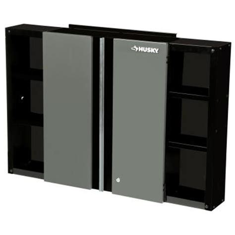 husky 48 in wall cabinet 48wc01bp thd the home depot