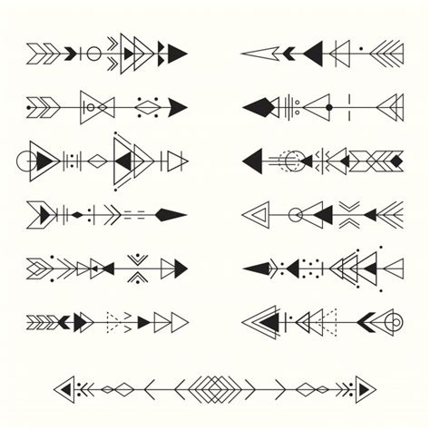 geometric tribal arrows collection vector premium