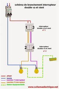 Double Va Et Vient : schema electrique branchement cablage ~ Nature-et-papiers.com Idées de Décoration