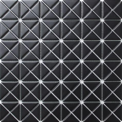 black mosaic tile 1 matte pure black porcelain triangle tile mosaic for wall accent design ant tile