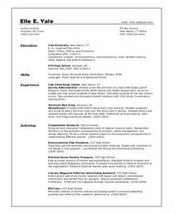 exle of a college graduate resume sle college resume 8 exles in word pdf