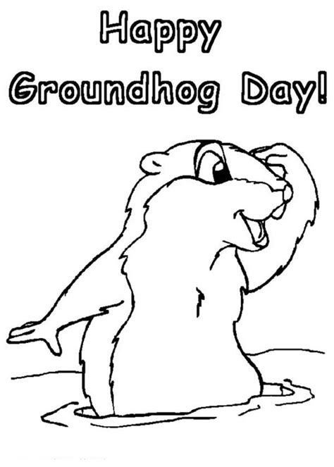 groundhog day coloring pages groundhog day coloring pages to and print for free