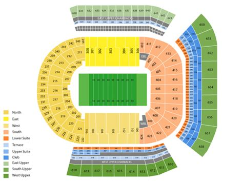 lsu tiger stadium seating chart   baton rouge la