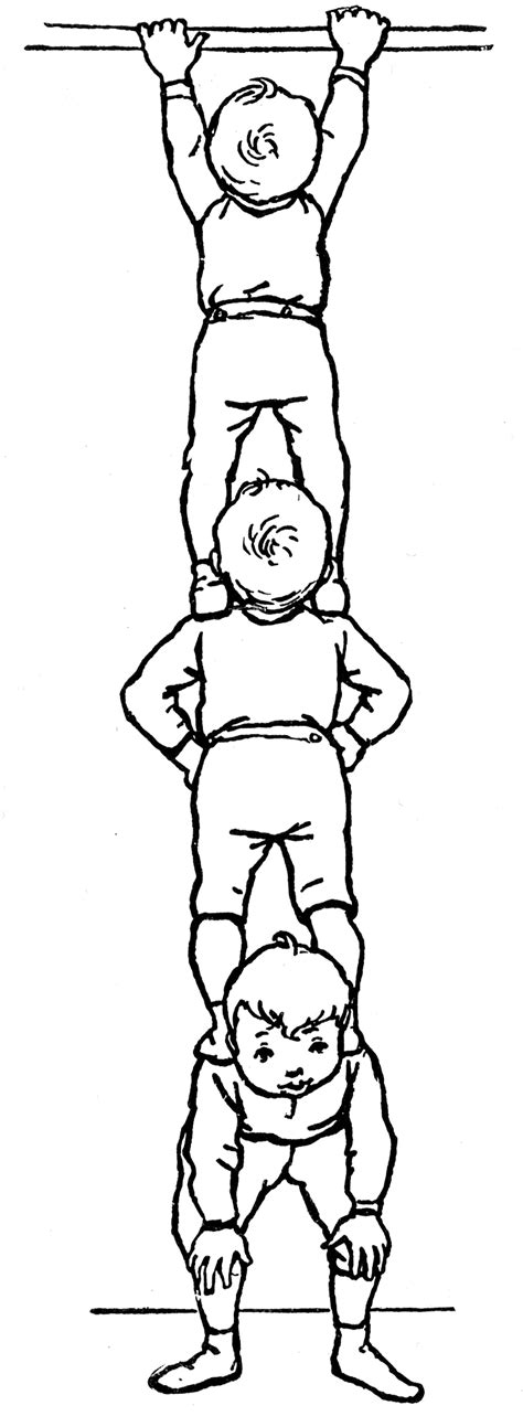 boys standing  shoulders clipart