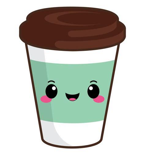 Coffee clipart, kawaii coffee clipart, pumpkin spice clipart, kawaii fall clipart, kawaii autumn clipart, macaron, commecrail use. Cute Coffee Cup Clipart - Clip Art Library