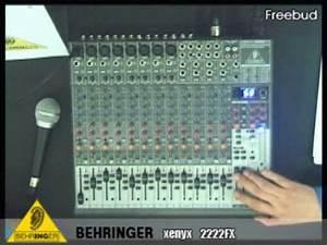 Behringer Xenyx 2222fx mixer - YouTube