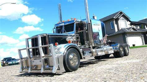 Stretched Chrome Semi Truck