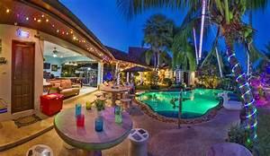 rilassante palm pool villa tropical garden illuminato With katzennetz balkon mit pattaya palm garden