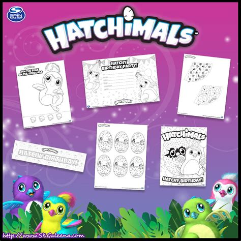 Happy Birthday Hatchimals Coloring Pages