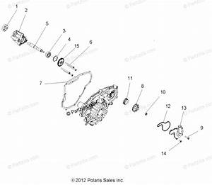 Polaris Side By Side 2013 Oem Parts Diagram For Engine  Oil Pump  U0026 Water Pump