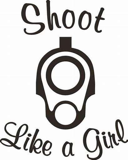 Decals Vinyl Shoot Gun Decal Silhouette Sticker