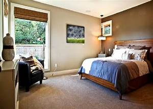 Painting neutral with dark accent wall painting colors for Master bedroom paint ideas with accent wall