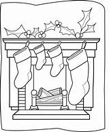Coloring Christmas Pages Chimneys sketch template