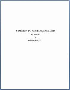 Formal Report Title Page Technical Writing Chapter 25 Front Matter And End Matter