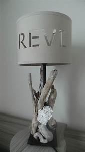 Lampe Chevet Bois Flotté : une lampe de chevet en bois flott cent fa ons ~ Teatrodelosmanantiales.com Idées de Décoration
