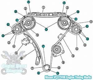2009 Nissan 370z Timing Marks Diagram  3 7l Vq37vhr Engine