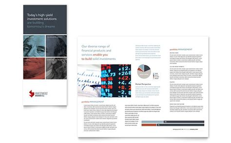 investment bank tri fold brochure template design