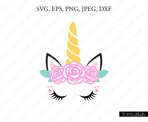 Unicorn Svg Unicorn Head Svg Unicorn Clip Art Unicorn Face