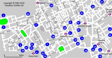 hotel street map west   london  leicester square
