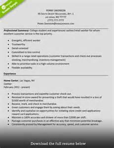 How To Make A Retail Resume Look by How To Write A Cashier Resume Exles Included
