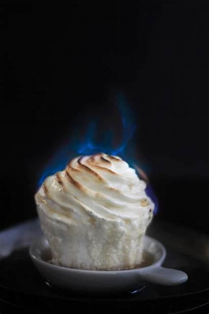 Alaska Baked Flaming Cupcakes Cupcake Delicious Fire