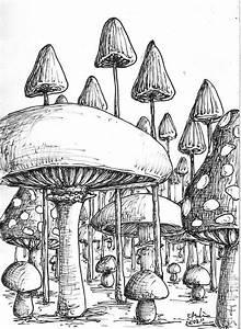 Magic Mushroom Coloring Pages   Cool Trippy Mushroom ...