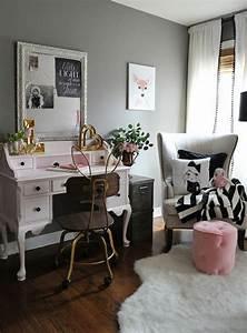 Bureau Chambre Ado Fille : 1001 id es pour une chambre d 39 ado cr ative et fonctionnelle ~ Dallasstarsshop.com Idées de Décoration