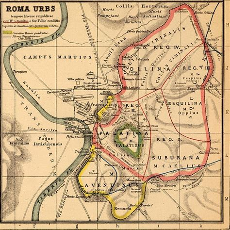 location si e b map of ancient rome servian walls maps of rome and