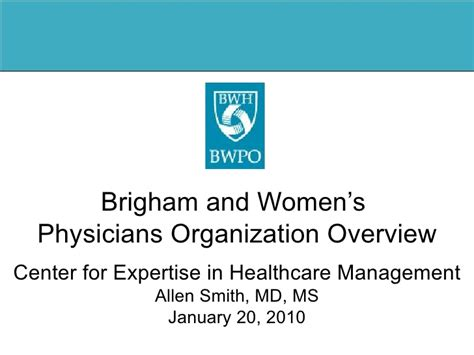 Understanding A Physician Organization