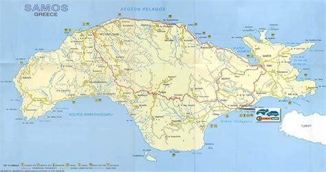 stadtplan von samos detaillierte gedruckte karten von
