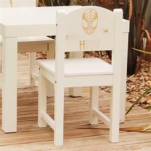 Chaise Enfant Personnalisé : chaise d 39 enfant personnalis e en bois spider masque ~ Teatrodelosmanantiales.com Idées de Décoration