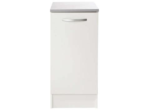 meuble cuisine largeur 55 cm meuble bas 40 cm 1 porte spoon coloris blanc vente de