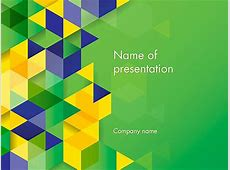 Brazil Colors PowerPoint Template, Backgrounds 12161