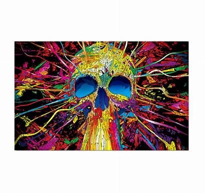 Pop Skull Canvas Blast Artwall Prints