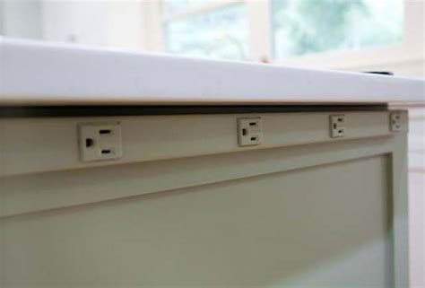 Get Outlets Out of Site on the Kitchen Island
