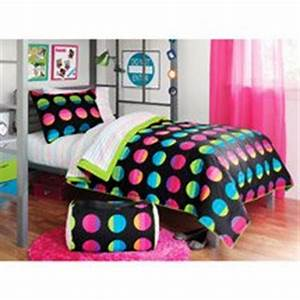 Amazon Black Pink & Green Bright Polka Dots Teen