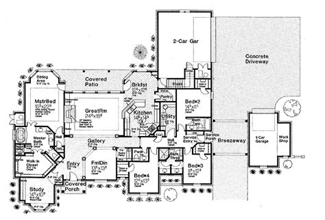 Harmonious Single Level Home Floor Plans by 301 Moved Permanently
