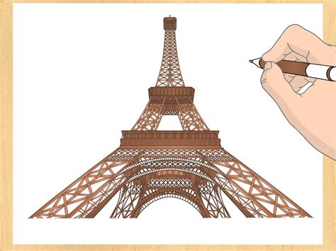 How To Draw The Eiffel Tower 14 Steps With Pictures