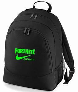Fortnite, Just, Play, It, Rucksack, Bag
