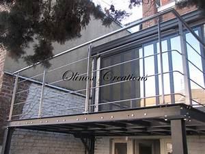 Terrasse Metallique Suspendue : terrasse suspendue en bois balcon inox et m tal ~ Dallasstarsshop.com Idées de Décoration