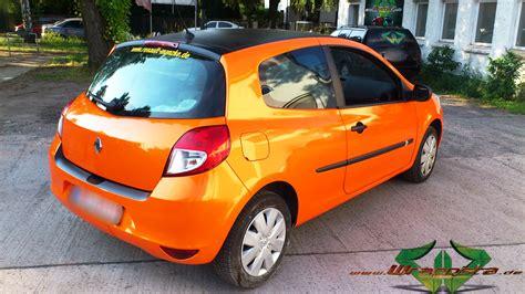renault orange renault clio orange metallic wrappsta berlin
