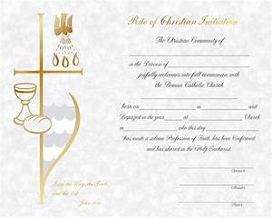 rcia rcia certificate With catholic baptism certificate template