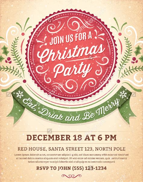 37+ Christmas Party Invitation Templates PSD Vector AI