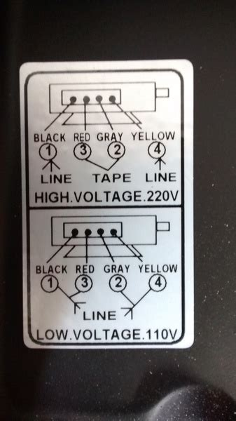 Changing Input Voltage Motor From Wiring