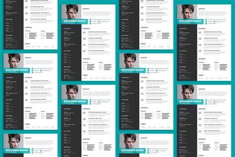 modern resume cv design template psd file good resume
