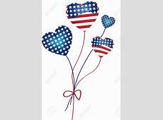 amirican flag balloons clipart Clipground
