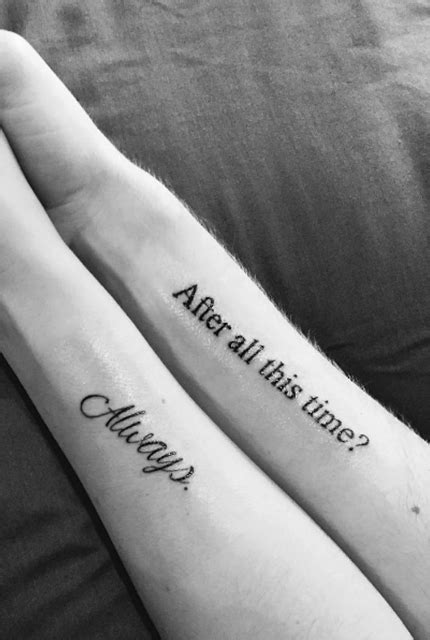 Magical Harry Potter-Inspired Couples Tattoos For You And Your Forever Muggle - Obsev