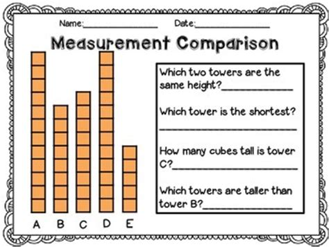 measurement worksheets using non standard units by j parkhurst tpt