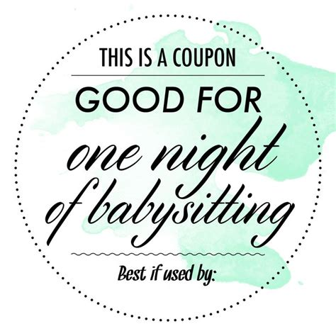 babysitting coupon google search gift coupons
