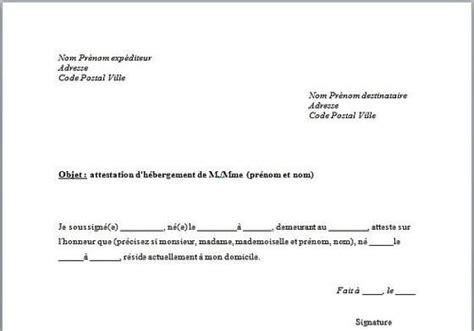 certificat mariage image gallery modele attestation d 39 hebergement